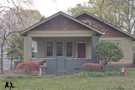 Colors Of The Year painting the porch and foundation diy old house crazy