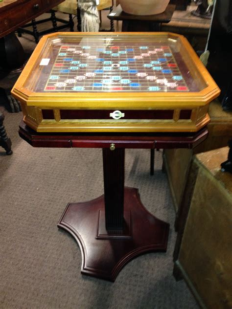 scrabble table franklin mint scrabble table on stand with set of