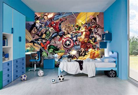 superhero wallpaper for bedroom super hero wall murals