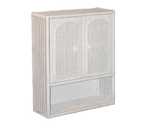 white wicker bathroom cabinet bmc26 bathroom wicker medicine cabinet