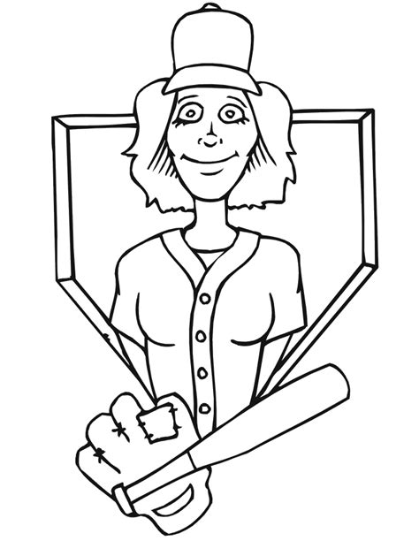 baseball girl coloring page free coloring pages of softball player