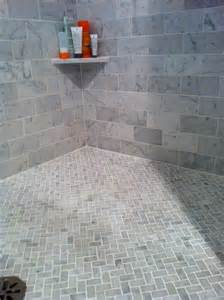 bath marble subway tiles on walls floor in