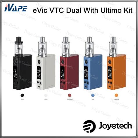 Joyetech Evic Vtc Dual 75w 150w With Ultimo Vaporizer Starter Kit Joyetech Evic Vtc Dual Kit With 4ml Ultimo Atomizer 75w 150w Evic Vtc Dual Mod Cover Replaceable