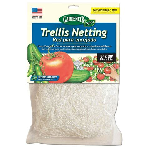 Netting Home Depot plant netting tomato cages plant support landscaping