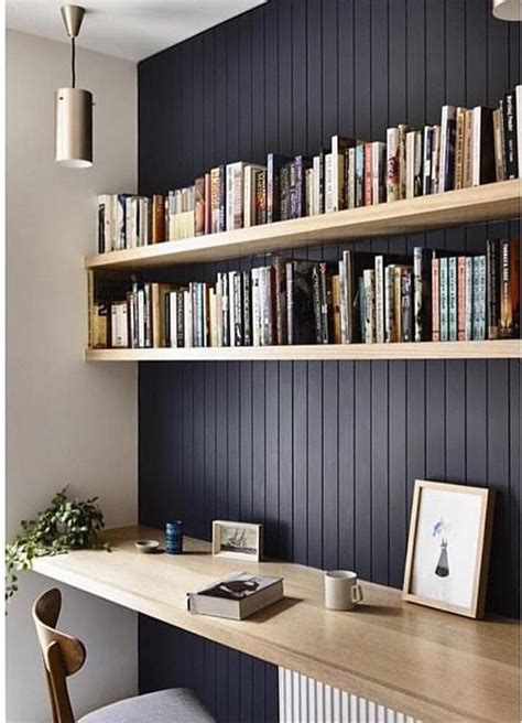 lighting for top of bookcases 27 awesome floating desks for your home office digsdigs