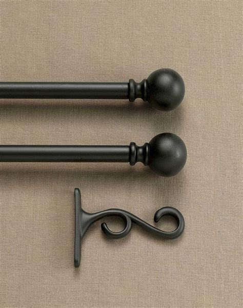 curtain and rod double curtain rod set with finials curtainworks com