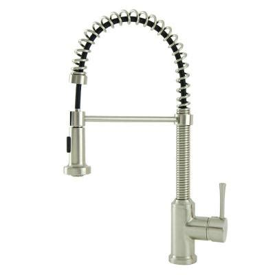 spring kitchen faucet italia residential single handle spring coil pull down