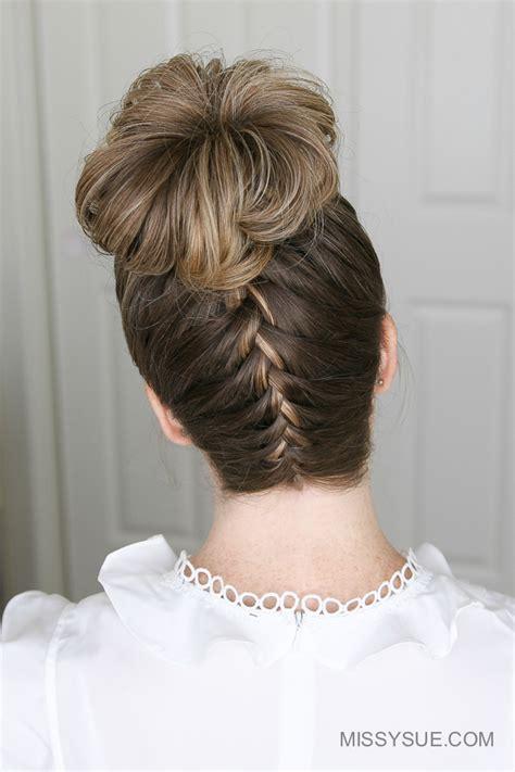 how to do high bun hairstyles upside down french braid high bun fsetyt com