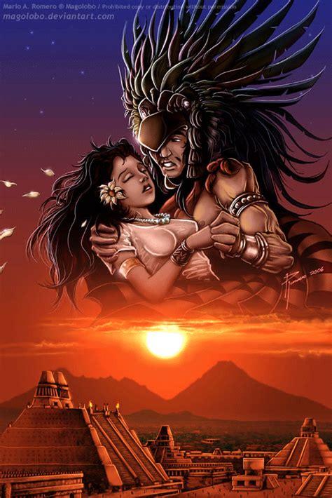 imagenes de la leyenda del amor eterno iztaccihuatl y popocatepetl by magolobo on deviantart