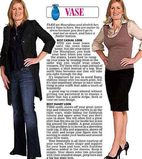 Vase Shape Clothes trinny and susannah show the clothes to suit their 12