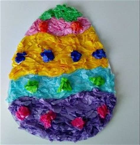 Tissue Paper Easter Crafts - tissue paper easy mosaic easter egg craft we used to make