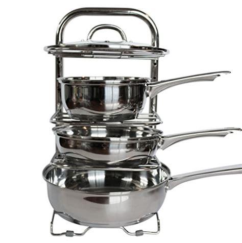 Countertop Pot Rack uhgoods cookware holders height adjustable pan and pot organizer rack kitchen ebay