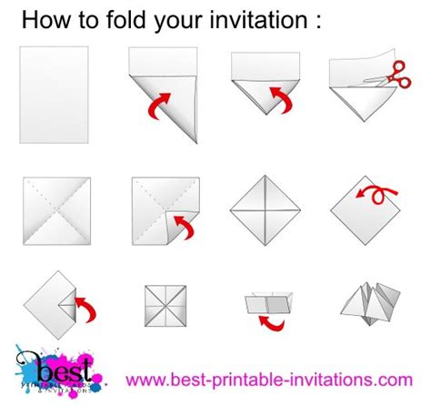 How To Fold A Paper Into A - origami invitations