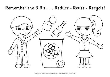 printable coloring pages recycling recycling colouring page