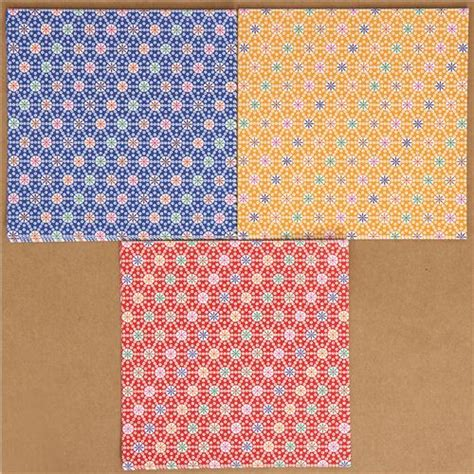Origami Paper Set - origami paper set with flower pattern from japan other
