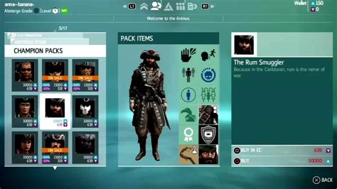 ac4 multiplayer chion packs preview assassin s creed 4 multiplayer characters customization