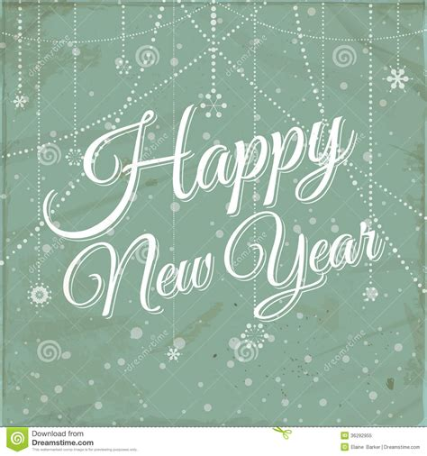 new year font style happy new year vintage background stock vector