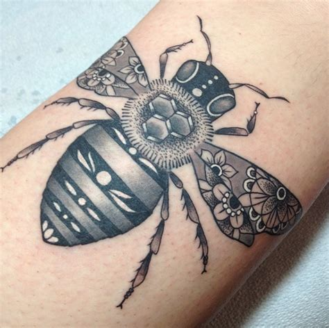 the hive tattoo bees hive bee tattoos