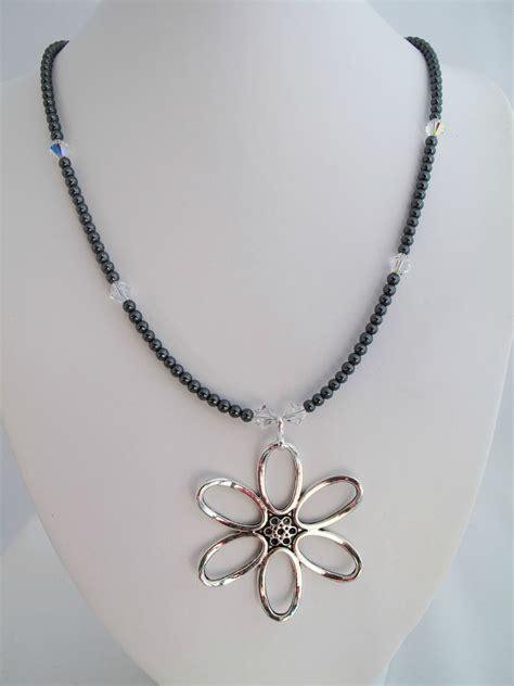 pewter necklace felt