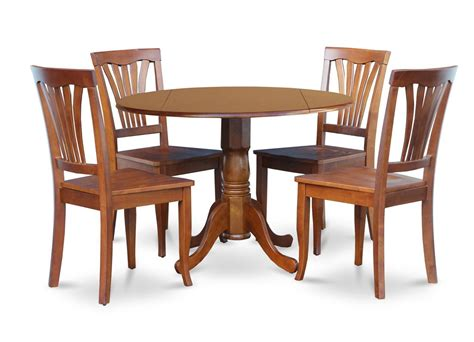 5pc dinette kitchen dining set 42 quot table 4 wood
