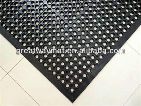 Rubber Door Mats With Holes Black Anti Slip Rubber Door Mat With Large Holes Buy