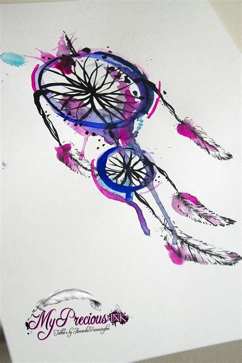 watercolor tattoo dreamcatcher watercolor dreamcatcher i n k watercolor