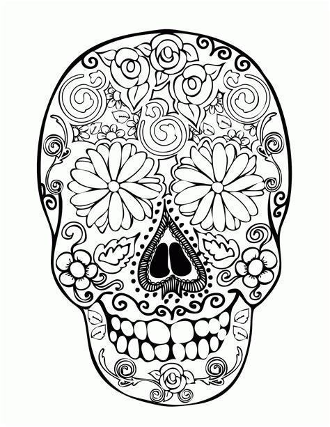 dia de los muertos skulls coloring page az coloring pages