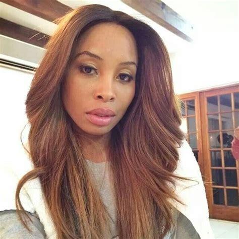 bonding hairstyles south africa khanyi mbau weave pinterest