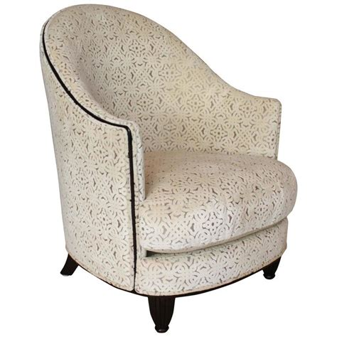 deco barrel back chair for sale at 1stdibs