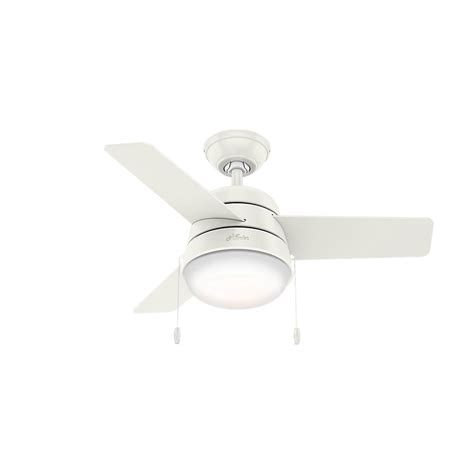 Aker 36 In Led Indoor Fresh White Ceiling Fan With