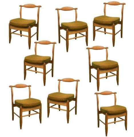 Rustic Modern Dining Chairs Guillerme Chambron Set Of 8 Rustic Modern Dining Chairs Modernism