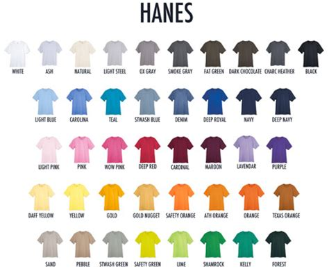 hanes t shirt colors shirts plus inc serving derby wichita and the rest of