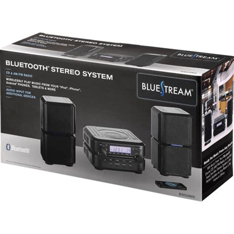 bluestream bs029ms bluetooth shelf top audio system