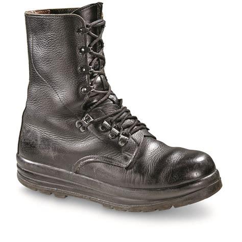 swiss surplus waterproof leather combat boots