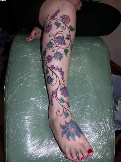 attractive on right thigh 17 best ideas about flower vine tattoos on