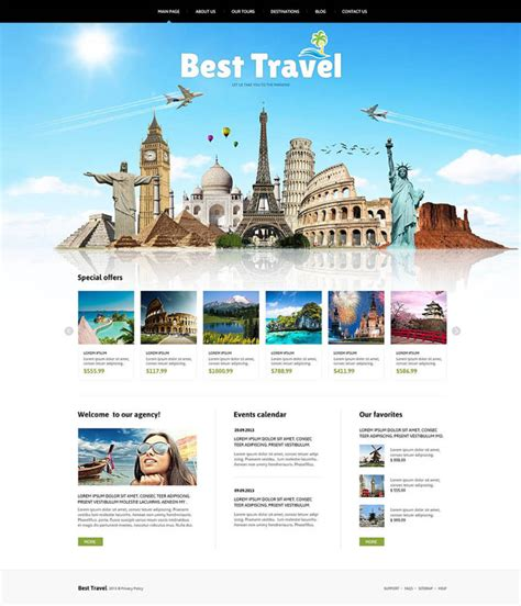 10 Best Joomla Templates For Travel Company Designmaz Travel Template