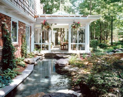 Waterfall Decoration For Homes outdoor living room amp lagoon traditional porch dc