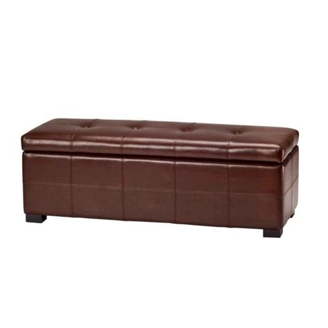 Tufted Storage Bench Safavieh Large Maiden Tufted Leather Storage Bench In Cordovan Hud8229c