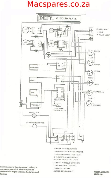 defy oven wiring diagram manual wiring diagram
