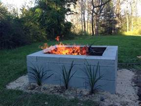 cinder block fireplace our cinder block pit ablaze yard