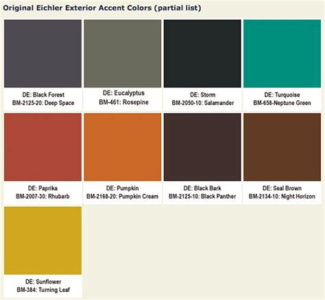 eichler authentic exterior colors journey for ma home mid centur