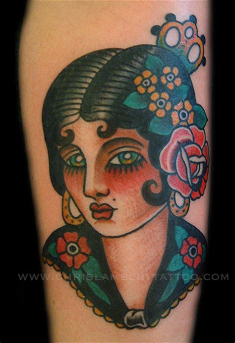 cowgirl pinup tattoos western traditional chris lambert