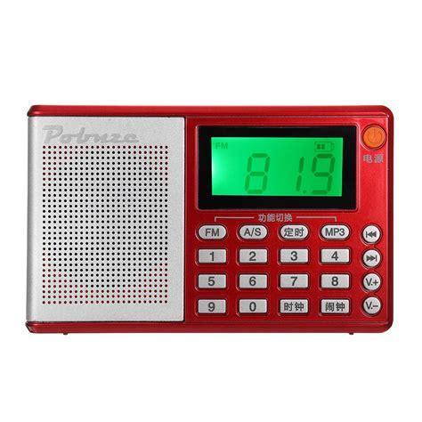 portable pocket radio fm am sw speaker tf card lcd digital audio mp3 player usb clock