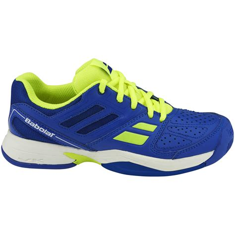 babolat pulsion all court tennis shoes blue yellow
