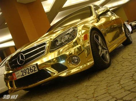 chrome benz the mercedes benz c63 amg dressed in gold and or chrome