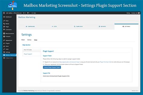 support section mailbox marketing email marketing application for