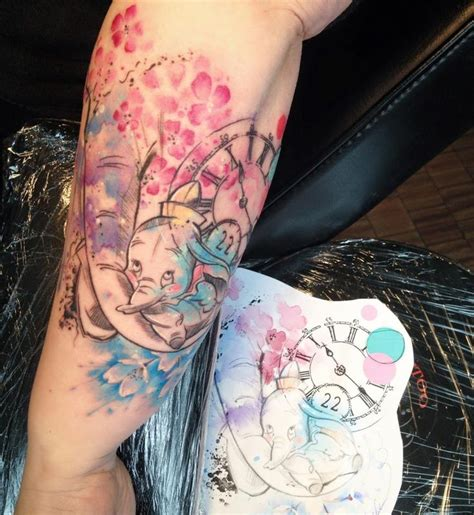 watercolor tattoos north carolina watercolor dumbo disney watercolor