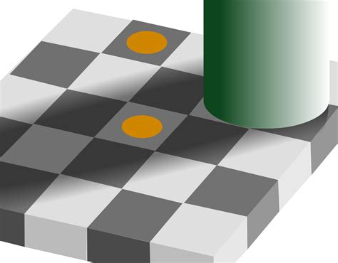 color illusions file optical grey squares orange brown svg wikimedia commons