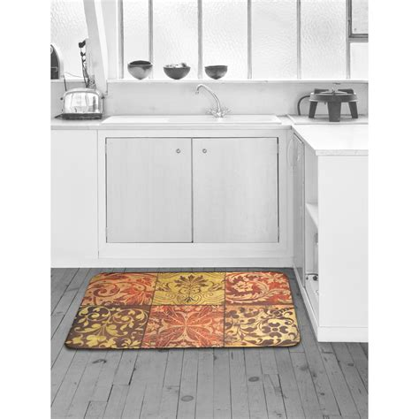 Designer Kitchen Mats Home Dynamix Designer Chef Mosaic 24 In X 36 In Anti Fatigue Kitchen Mat 4 Dc03 The Home