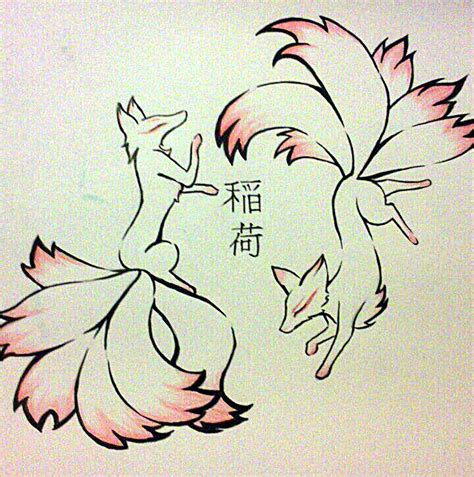 kitsune tattoo design by tamaarisu on deviantart